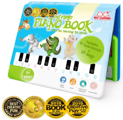 This is an image of girl's educational piano book in colorful colors