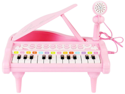 This is an image of girl's keyboard toy in pink color