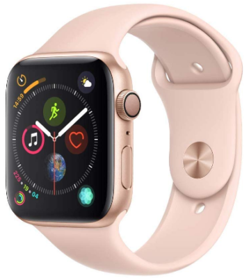 This is an image of girl's apple watch Serie 4 in pink color