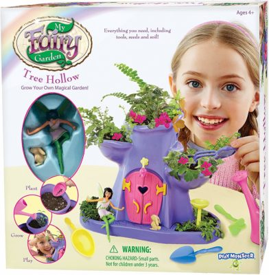 This is an image of a tree hallow fairy garden by PlayMonster.