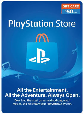 This is an image of boy's playstation store gift card