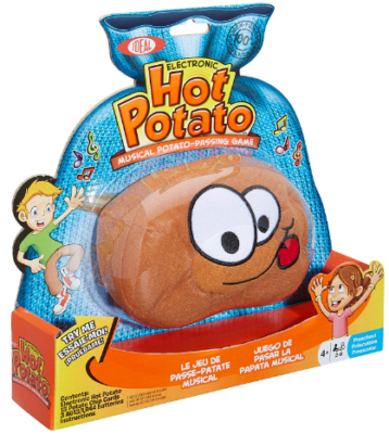 This is an image of kid's Potato electronic musical passing toy in brune color