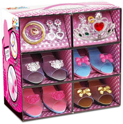 This is an image of girl's princess dress up pack in colorful colors
