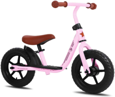 This is an image toddler's push bike in pink color
