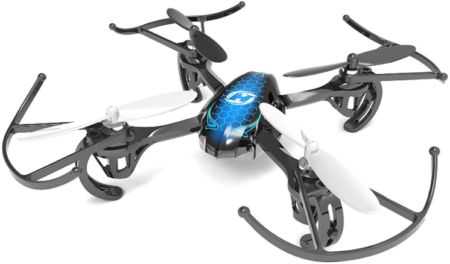 This is an image of boy's quadcopter drone in gray and white colors