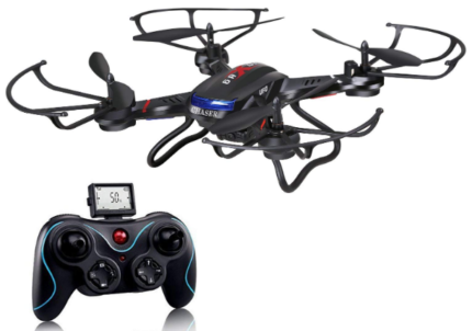 This is an image of boy's quadcopter drone with RC in black color