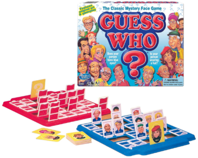 This is an image of boy's board game Guess who?