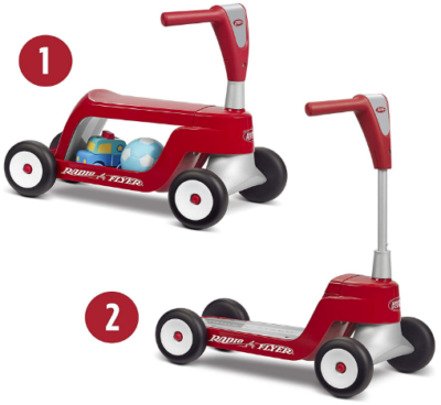 This is an image of boy's Scooter ride on in red color