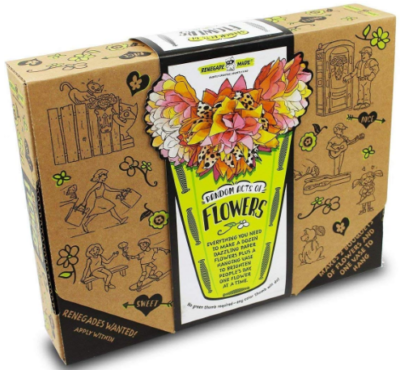 This is an image of girl's DIY flowers kit