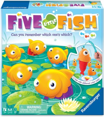 This is an image of a fishing game for kids by Ravensburger.