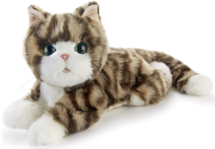 This is an image of girl's realistic kitten plush in colorful colors