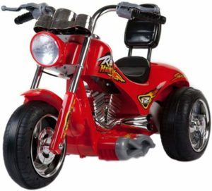 This is an image of a red motorcycle by Big Toys.