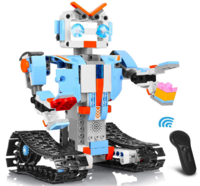 This is an image of girl's Robot building blocks with remote control in Multi color
