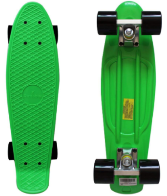 This is an image of kid's 22 inches skateboard in green color
