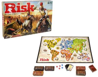 This is an image of kid's risk board game by hasbro
