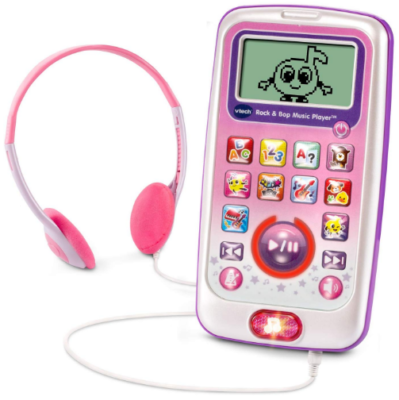 This is an image of kid's Rock and bop music player in pink color