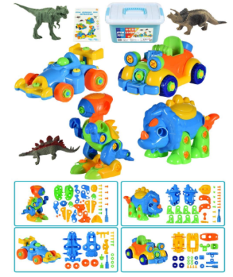 This is an image of boy's STEM dinosaur toys in colorful colors