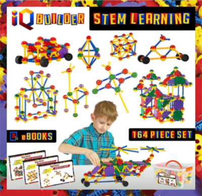 This is an image of kid's STEM learning toys in colorful colors