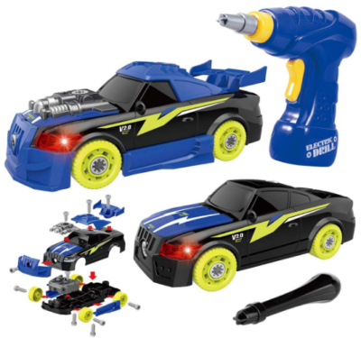This is an image of boy's STEM racing car in blue color