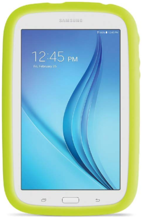This is an image of girl's samsung galaxy in white and green colors
