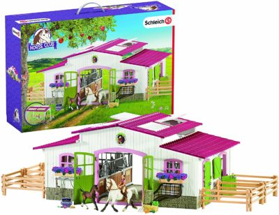 This is an image of a riding horse club playset by Schleich.