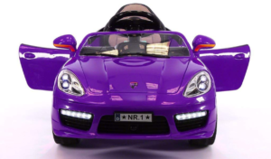 this is an image of a purple ride on electric car