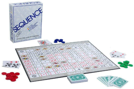 This is an image of boy's Sequence board game