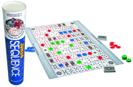 This is an image of kid's sequence tube board game