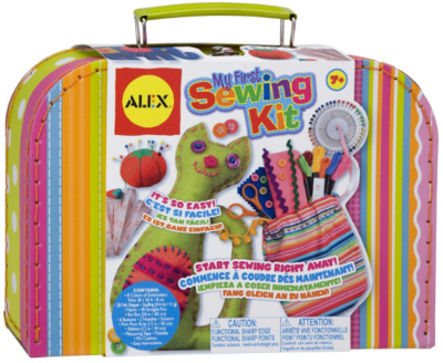 This is an image of girl's DIY craft sewing kit