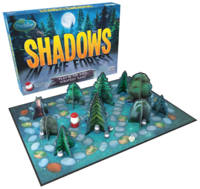 This is an image of kid's shadows in the forest board game