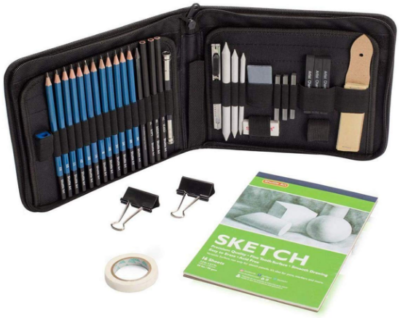 This is an image of girl's Sketching and drawing pencils set