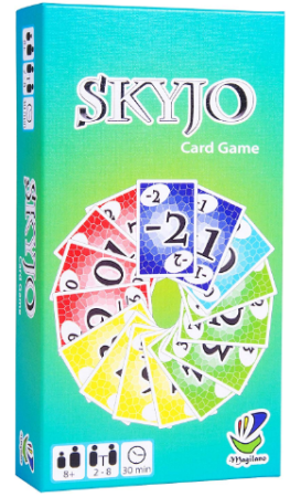This is an image of girl's skyjo card game