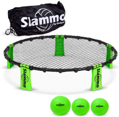 This is an image of boy's slammo sport game set in black and green colors