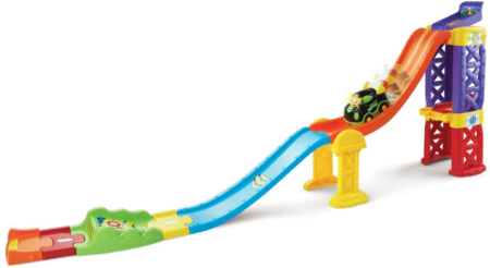 This is an image of boy's smart wheels raceway in colorful colors