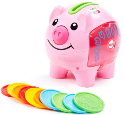 This is an image of girl's Educational smart piggy bank in pink color