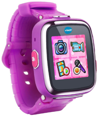 This is an image of girl's smart watch by VTech in purple color