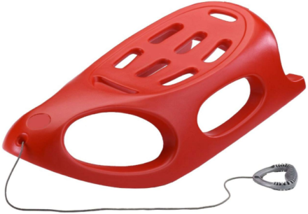 This is an image of kid's snow shuttle sled in red color