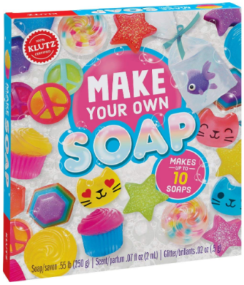 This is an image of girl's soap craft and science kit in colorful colors