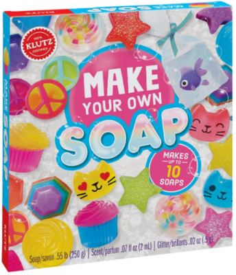 This is an image of girl's soap craft in colorful colors
