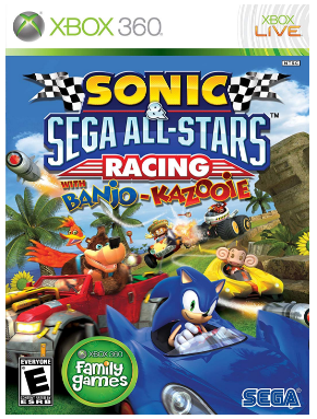 This is an image of kid's sonic saga all stars game for xbox 360