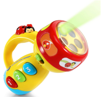 This is an image of boy's flashlight with spin in colorful colors
