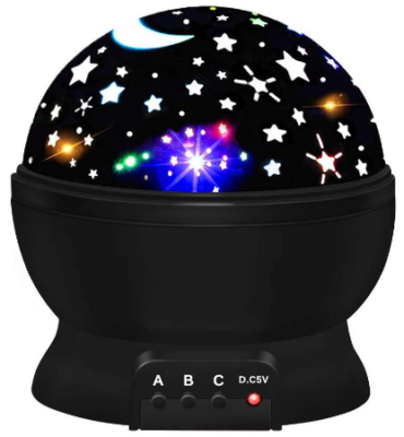 This is an image of boy's star night lights in black color