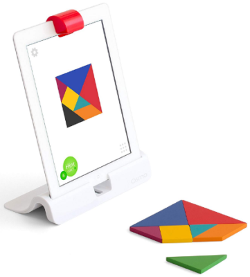This is an image of girl's osmo starter kit with tablet in white color