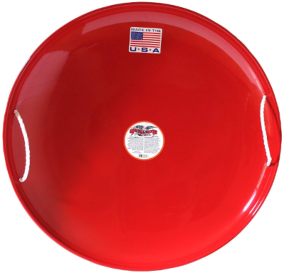 This is an image of kid's steel snow slider in red color