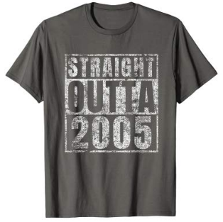 This is an image of boy's 14th birthday t shirt in gray color