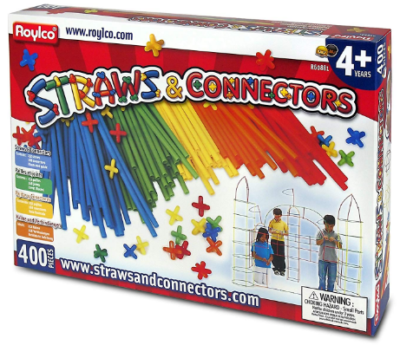 This is an image of kid's straws building set in colorful colors