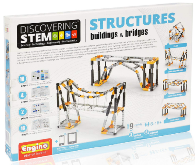This is an image of kid's structures building and bridges in colorful colors