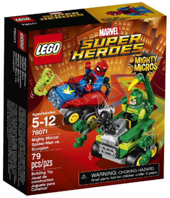 This is an image of kid's Super heroes mighty micros building set