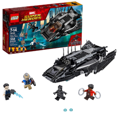 This is an image of kid's Lego marvel super heroes talon fighter attack building kit