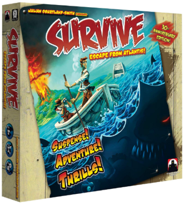 This is an image of kid's survive escape from atlantis board game